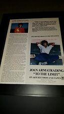 Joan Armatrading To The Limit Rare Original Promo Poster Ad Framed!