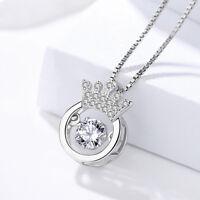 Anhänger für Halskette Krone echt Sterling Silber 925 Zirkonia Dancing Stone