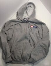 US Bank Grey Hoodie Large Zipper Long Sleeve Sweatshirt RecyclesClothes.com