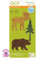 Accuquilt GO! Fabric Cutter Die Northwoods Medley Moose Bear Quilt Sew 55483