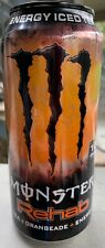 NEW MONSTER REHAB ICED TEA ORANGEADE ENERGY DRINK 15.5 FL OZ FULL CAN NON CARBON