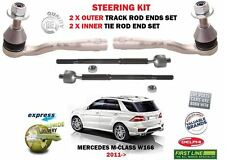 Pour MERCEDES ML350 ML400 ML500 2011 > 2X exterieur + Inner Steering Track Tie Rod End