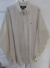 Polo Ralph Lauren Mens Long Sleeve Button Front Blake Shirt XL Yellow Check
