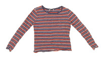 George Womens Size 10 Striped Cotton Multi-Coloured Top (Regular)