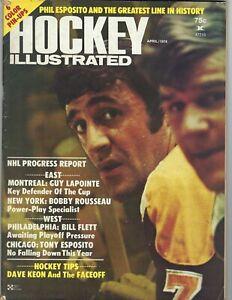 1974 Hockey Illustrated magazine Bobby Orr, Phil Esposito Boston Bruins VG