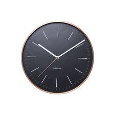 Karlsson Mínima Reloj De Pared Negro Cobre Funda Diseñador Único moderno