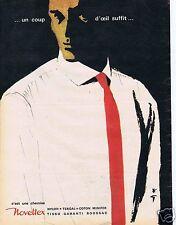 Publicité Advertising 056 1961 Novoltex c est une chemise par rené Gruau