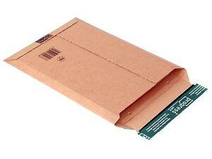 100 Stück Versandtasche aus Wellpappe A4+ 352 x 250 x -40 mm