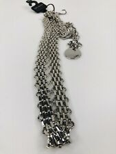 New The Limited Silver Metal Chain Link Belt Women's Small/Medium NWT