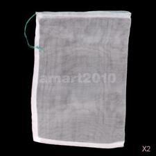 20x Drawstring Nylon Mesh Filter Media Bag 25x35cm for Aquarium Garden Pond