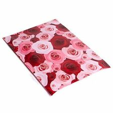 UpakNship PPMROSES100 10x13 Pink & Red Roses Designer Poly Mailers Shipping Envelopes - 100Pcs
