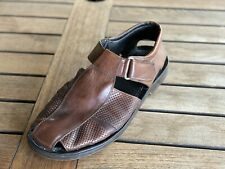 Tommy Bahama Brown Fisherman Leather Sandals Size 12