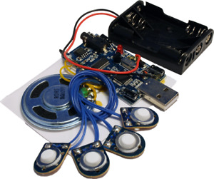 5 minute USB sound / voice / music  recording module with 4 buttons (USB5M)