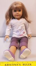 American Girl Just Like You Blonde Brown Hair Blue Eyes Doll Purple OUTFIT SHOES