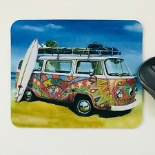 mouse pad desktop laptop camper van art mouse mat office 18 x 22 cm made in UK