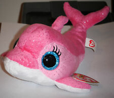 """Ty Beanie Boos ~ SURF the 6"""" Pink Dolphin ~ RETIRED ~ MINT with MINT TAGS"""