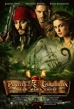 PIRATES OF THE CARIBBEAN DEAD MANS CHEST MOVIE POSTER 2 Sided ORIGINAL 27x40