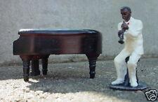 MUSICIAN W/ GRAND PIANO MINIATURE 2 PC SET 1/24 G SCALE