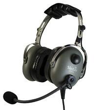 SL-900M Grey SkyLite Aviation Pilot MP3 Headset wt Gel, GA Dual Plug + Free Bag
