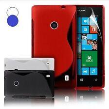 Custodia WAVE S Line per NOKIA Lumia 520 CASE COVER 2x3 TPU Gel Gomma Morbida