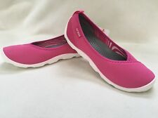 CROCS Women's Flats Duet Busy Day Slip On Athletic Pink White NWT $49.99 SIZE 6