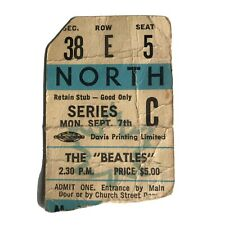 Beatles Toronto Maple Leaf Gardens Ticket Stub Authentic September 7 1964