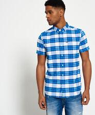 Superdry Men's Ultimate University Shortsleeved Oxford Shirt Blue Large
