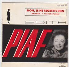 * Edith PIAF  * Non , je ne regrette rien *  EP 3 titres . 45 tr. ESRF 1303 M.