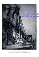 Brooklyn Bridge New York XL Kunstdruck 1923 von W. Monk USA Amerika Manhattan +