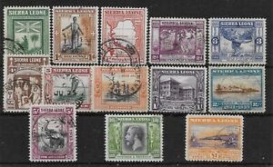 SIERRA LEONE SG168/80 1933 ABOLITION OF SLAVERY SET USED