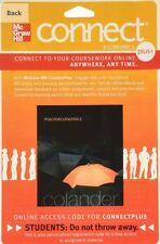 Connect 1 semester Access Code for macroeconomics 9th Edition Colander