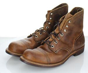64-26 $330 Men's Sz 8 M Red Wing Iron Ranger Copper Rough & Tough Boot