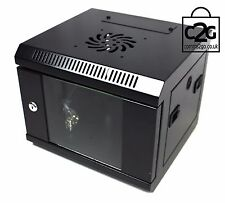 "10"" 4U Black Wall Cabinet Network Data Rack SOHO Home Office Lan Server Switch"