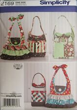 Simplicity Sewing Pattern 2169 Bags Purses OS New UNCUT