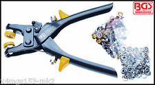 BGS - Eyelets and Button Pliers - Inc 100 Eyelet & 25 Button Set - Pro Range 564