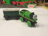 PERCY & GREEN BAGGAGE CAR~Thomas & Friends Wooden Railway Train Tank Engine~2012