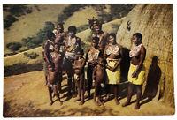 Vintage Zulu Family Natal TERENCE J MCNALLY Photo Postcard
