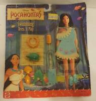 Vtg Mattel Disney Pocahontas Swimming Dress N Play Outfit New On Card