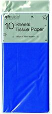 Pack of 10 Sheets Tissue Paper - Blue