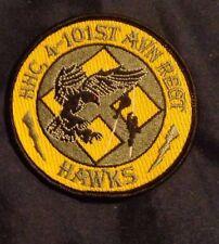 ARMY AVIATION PATCH, HHC, 4TH BN,101ST AVN RGT, 101 ABN,HAWKS.