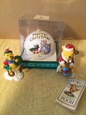 Midwest of Cannon Falls 3 Disney Winnie Pooh Ornaments Christmas Lot