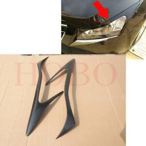 2x For Chevrolet Cruze 2009-14 Carbon Fiber Left+Right HeadLight Eyebrow Trim