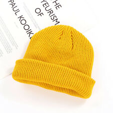 cf27eade7fe Unisex Men Women Beanie Hat Warm Ribbed Winter Turn Ski Fisherman Docker  Hat Cap