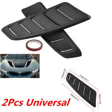 2Pcs 44*18cm ABS Plastic Front Hood Vent Air Flow Intake Cover Kit For Car SUV