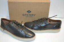 Sperry Top-Sider Mens Clipper LTT Oxford Charcoal LEATHER SNEAKER SHOE 10.5 M