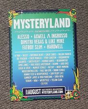 Collectable Mixmag Mag Advert Ad Picture 2018 Mysteryland Festival Amsterdam