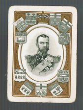 Swap Playing Cards 1 WIDE VINT GEORGE V IN FRAME  CANADIAN  STATE  SHIELDS R47