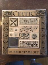 Celtic Irish Wood Rubber Stamps Set of 10 Rare Hard to find C35