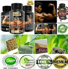 TESTO BOMB+ANABOLIC STRONGEST LEGAL TESTOSTERONE MUSCLE BOOSTER WITHOUT STEROIDS