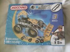 Complete Meccano 2520 Multi Models 110 Parts sealed with box damage
